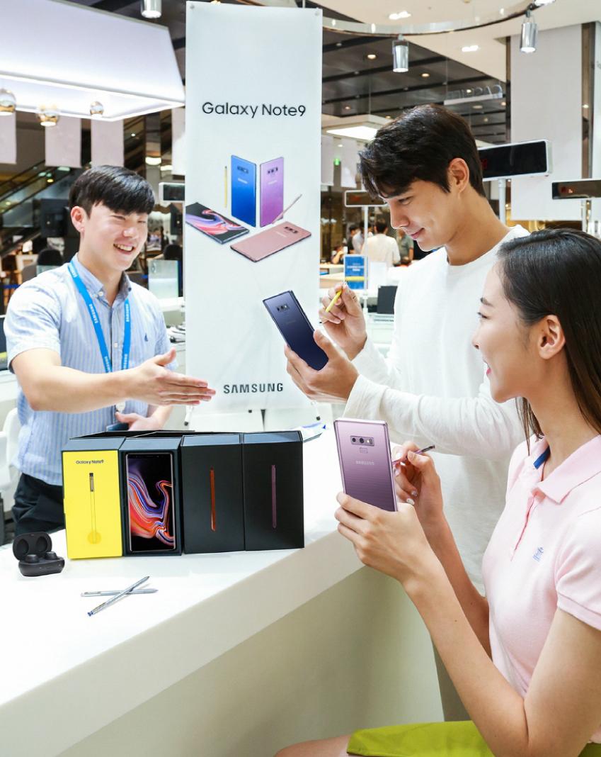 삼성 갤럭시 노트9 사전 예약 판매_모델컷