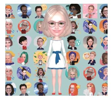 AR 이모지 이미지 다양한 인물의 얼굴들