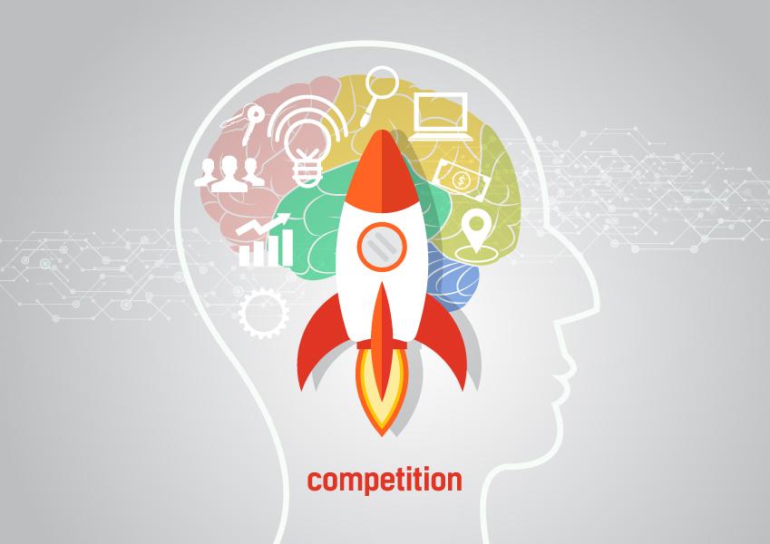경쟁하는 인간 이미지