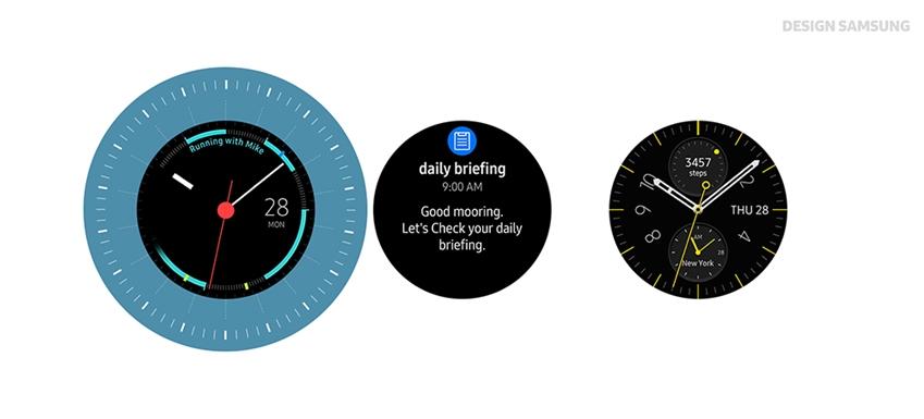 사용자의 일정을 확인할 수 있는 갤럭시 워치 워치페이스