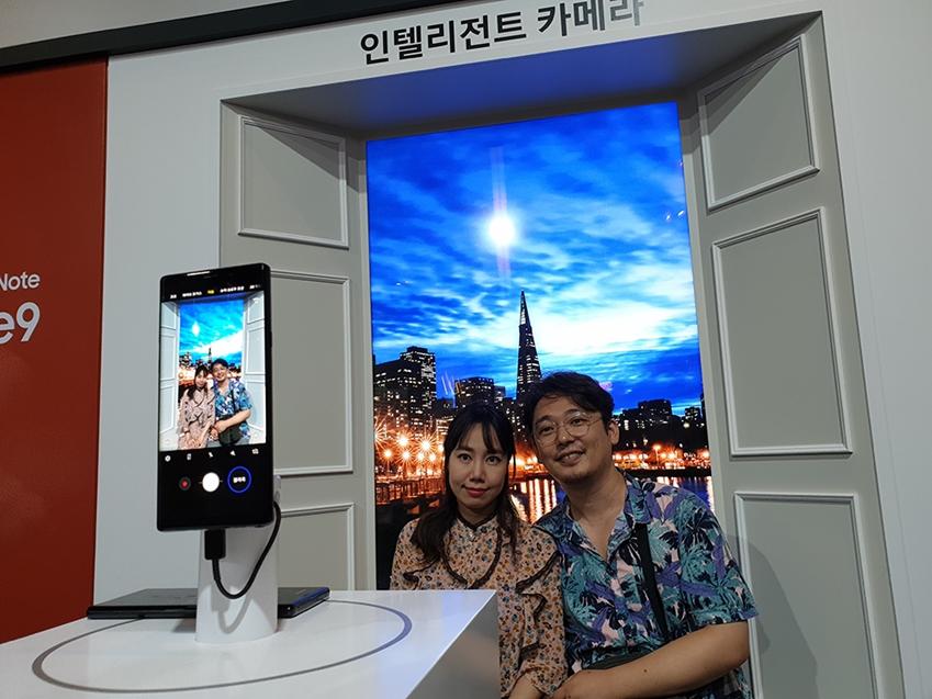 갤럭시 팬파티 현장의 체험존 인텔리전트 카메라