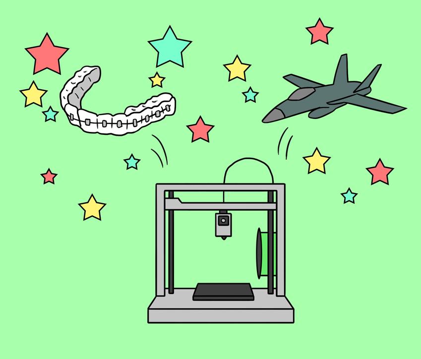 3D 프린터가 만들어낸 교정기와 항공기