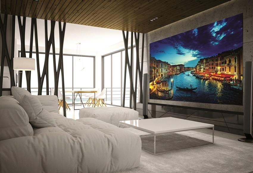 벽면 디스플레이의 모습