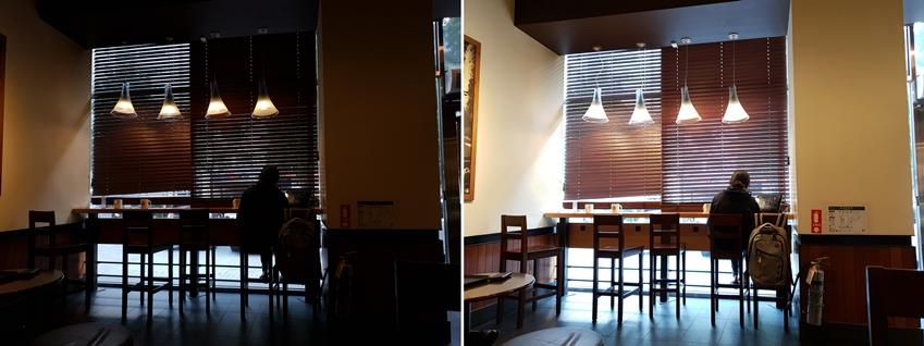 인텔리전트 카메라로 촬영한 카페