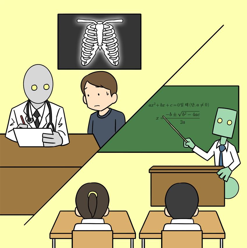 미래 인공지능이 대체할수도 있는 일자리 의사와 교사