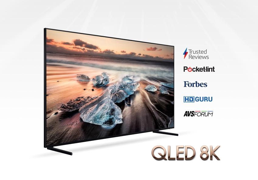 삼성전자가 올해 10월 출시한 'QLED 8K' TV가 업계의 영향력 있는 전세계 주요 평가 매체들로부터 호평을 받고 있다. (85인치 Q900R 제품)