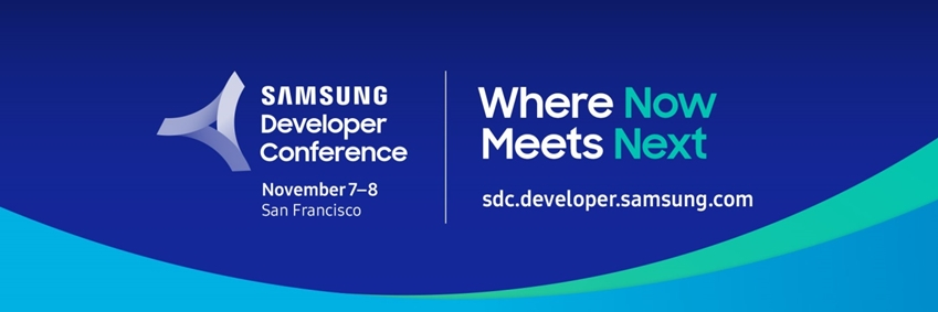 samsung developer conference / november 7-8 / San Francisco / where now meets next / sdc.developer.samsung.com