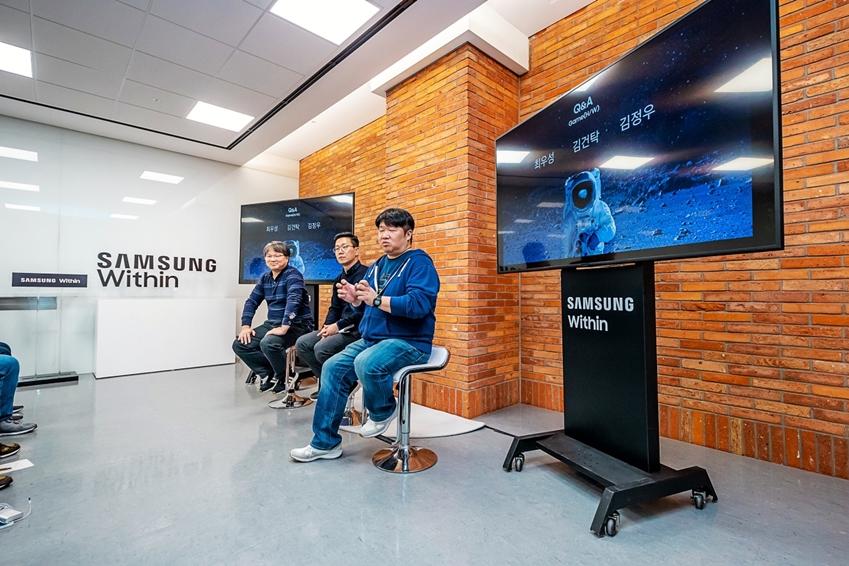 ▲게임성능 세션 : 갤럭시 노트9의 게임 최적화 성능에 대해 대해 이야기를 나눴다