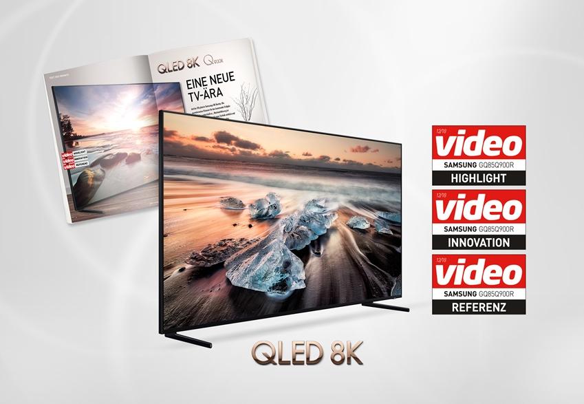 삼성전자가 최근 출시한 'QLED 8K' TV가 권위 있는 독일 AV 전문 평가지 '비디오(Video)'로부터 최고의 TV라는 평가를 받았다.