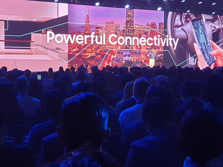11월 7일(현지시간)부터 양일간 미국 샌프란시스코 모스콘센터에서 진행되는 '삼성 개발자 콘퍼런스 2018'에서 삼성전자 IM부문장 고동진 사장이 기조연설을 하고 있다.