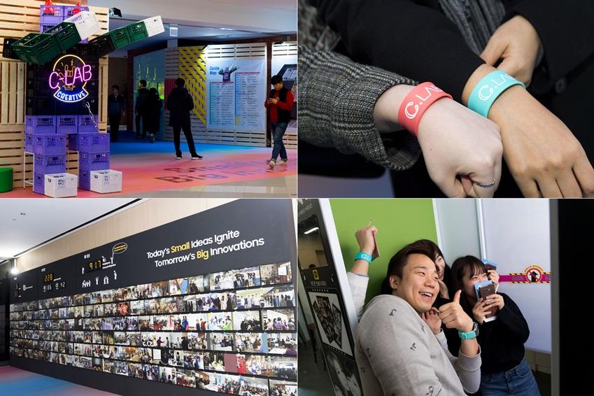 ▲관람객은 입장권을 대체하는 손목 부착 밴드만 있으면 즉석 사진 촬영이나 지난 과제 사진 관람 등 다채로운 체험을 즐길 수 있다