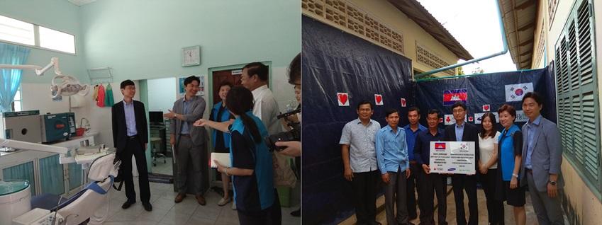 황창순 교수는 '나눔인터내셔날'과 함께 캄보디아 캄퐁참주 주립병원에 방문했다. 국가 평균보다 열악한 보건의료상황에 놓여 있는 이곳에 전문치료실을 개설하고, 의료진 현지연수 프로그램을 진행하는 등 환자들에게 양질의 의료서비스가 제공될 수 있도록 도왔다