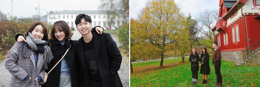 ▲스웨덴 취재에 나선 영삼성 리포터즈들. 스톡홀름대(오른쪽 사진)와 스웨덴왕립공과대 곳곳을 누비며 수많은 또래 학생들과 깊은 대화를 나눴다