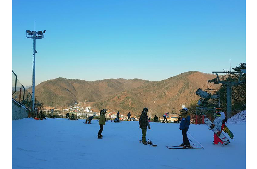 스키장 전경