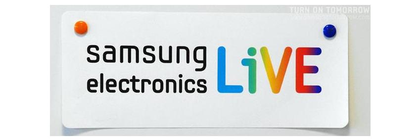 ▲ 삼성전자가 임직원과 소통하기 위해 신설한 사내 채널 '삼성전자 라이브(LiVE)' 초기 로고(2009년 11월)