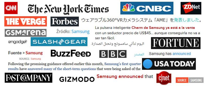 ▲지난 한 해 동안 전 세계 70여 개국 주요 매체가 삼성전자 뉴스룸 기사를 인용, 보도했다