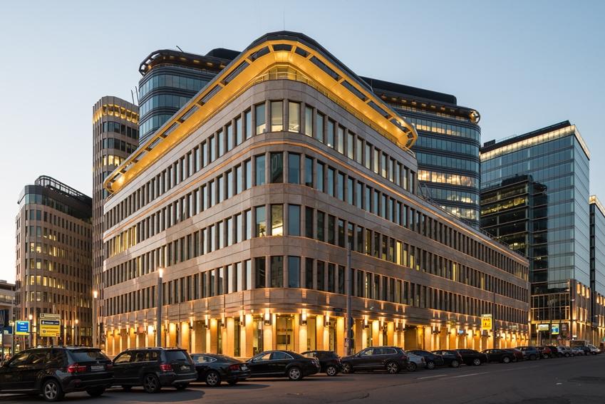 모스크바 AI센터가 위치한 화이트스퀘어 비즈니스센터 빌딩 전경