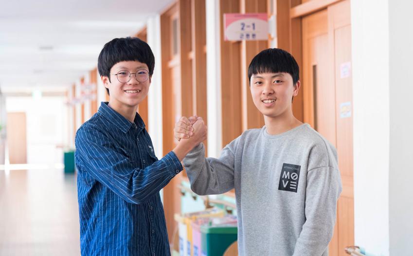 2017년 드림클래스 겨울캠프에 참가했던 김지호•백규근 군