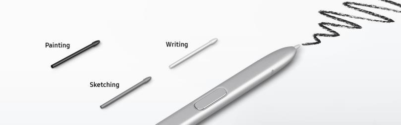 펜 S의 세가지 펜 팁