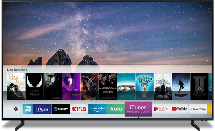 삼성전자가 6일(현지 시간) 애플과 협력해 업계 최초로 스마트 TV에 아이튠즈 무비 & TV쇼(iTunes Movies & TV Shows, 이하 아이튠즈)와 에어플레이2(AirPlay 2)를 동시 탑재한다.