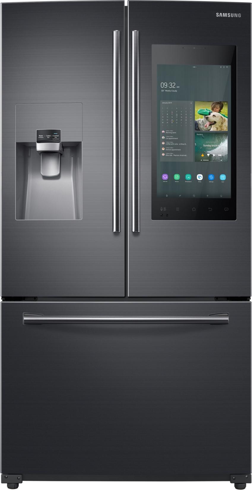 삼성전자가 미국 라스베이거스에서 열리는 세계 최대 전자 전시회 CES 2019에서 4년 연속 CES 혁신상을 수상한 2019년형 '패밀리허브' 냉장고 신제품을 공개했다. 사진 3은 삼성 2019년형 패밀리허브 제품(모델명: RF265BEAESG)