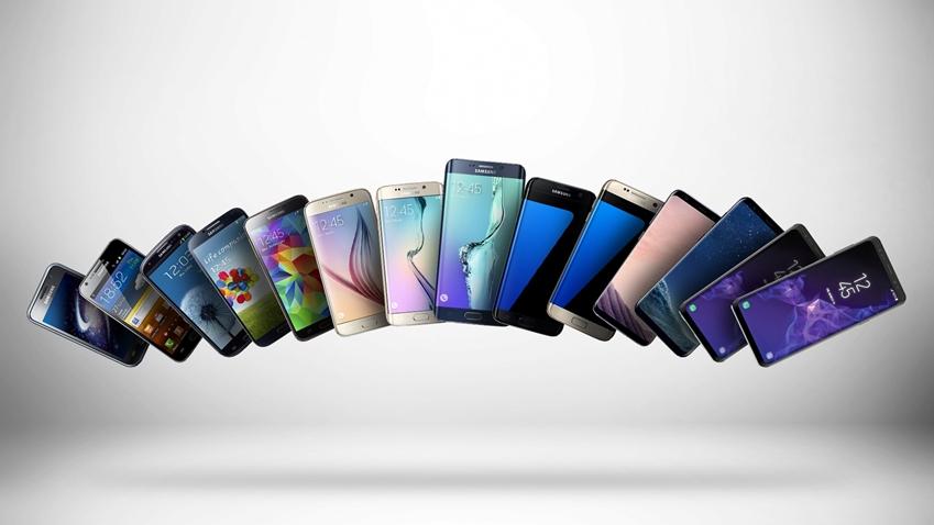 삼성전자에서 출시된 다양한 종류의 스마트폰들