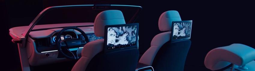 디지털 콕핏 뒷좌석 모습