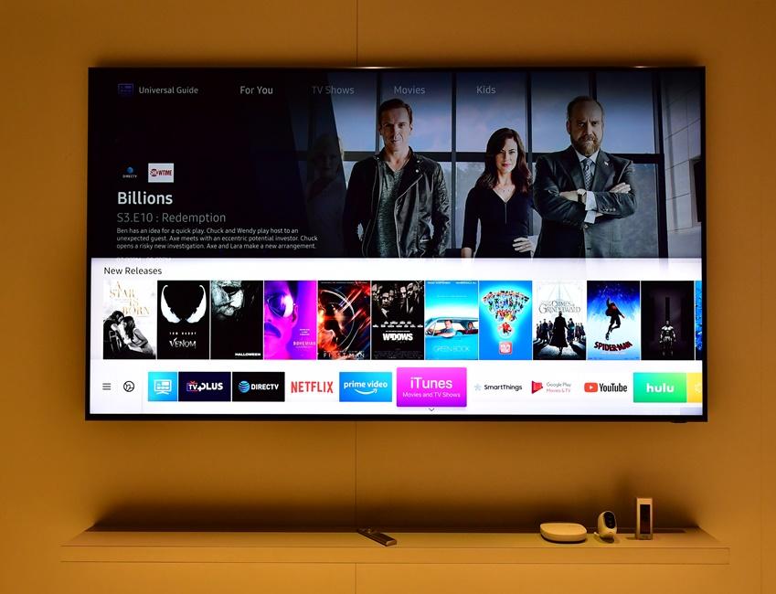 ▲ 삼성 스마트 TV에 에어플레이(AirPlay) 2를 탑재해, 다양한 iOS 적용 기기에 저장되어 있는 사진, 영상 등을 편하게 스트리밍해서 볼 수 있게 됐다.
