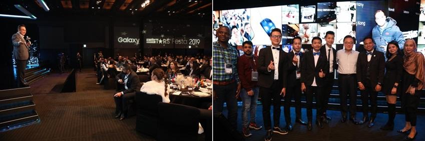 22일 서울 신라호텔에서 열린 갤럭시 스타즈 만찬에는 삼성전자 IM부문장인 고동진 대표이사가 참석해, 참가자들에게 감사를 표했다.