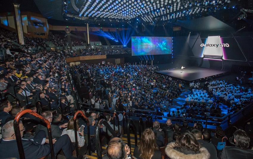미국 샌프란시스코 빌 그레이엄 시빅 센터(Bill Graham Civic Auditorium)에서 현지시간 20일 진행된 '삼성 갤럭시 언팩 2019' 현장 스케치