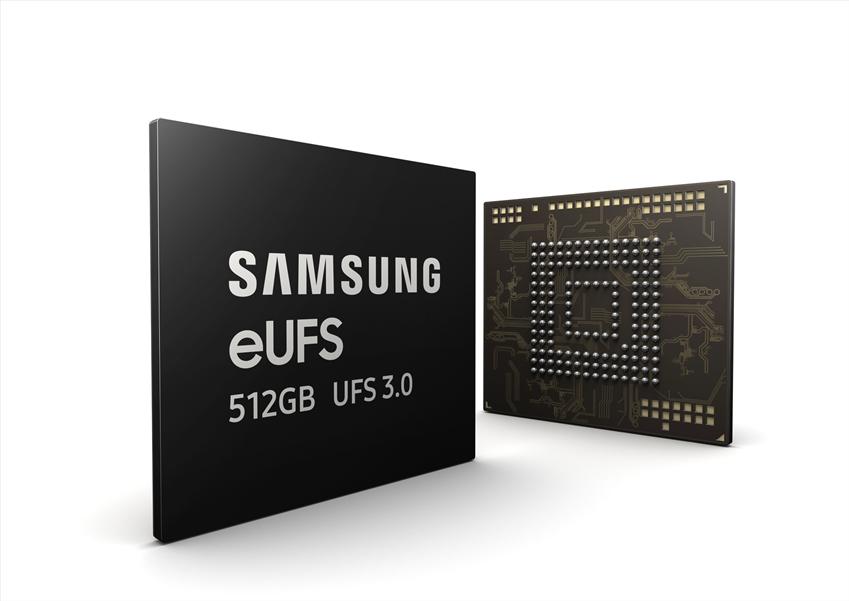 삼성전자가 세계 최초로 양산한 512GB eUFS 3.0 제품 이미지
