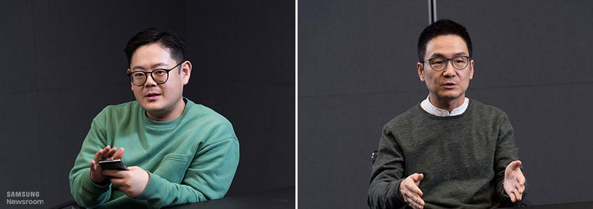 갤럭시 S10 시리즈의 디자인을 담당한 삼성전자 무선사업부 디자인팀 김동균, 장승호 씨