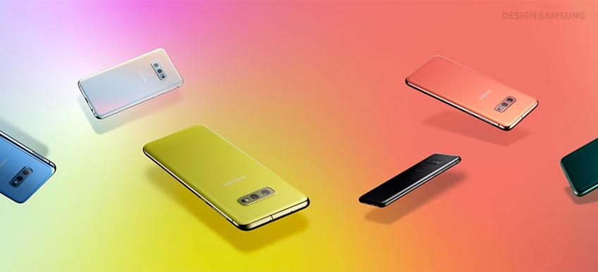 다양한 색상의 갤럭시 S10 모델