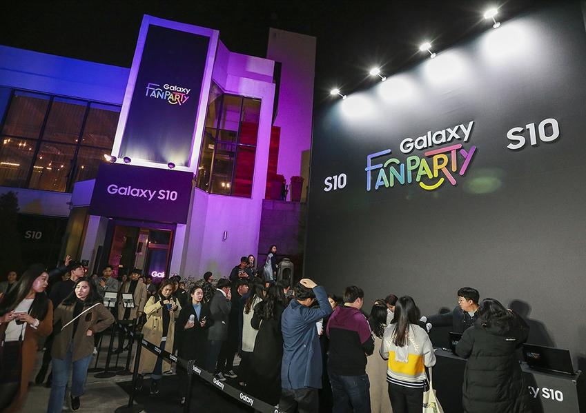 지난 3월 2일 광주 동구 커볶에서 진행된 '갤럭시 팬 파티' 현장.
