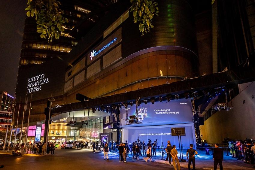 베트남 호찌민의 비텍스코(Bitexco) 파이낸셜 타워에 오프한 '삼성 쇼케이스' 전경
