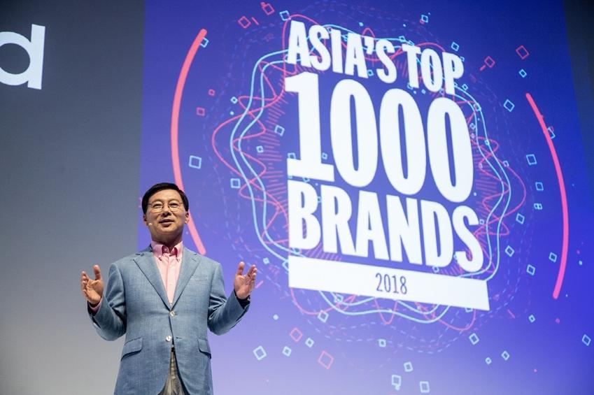 26일 삼성전자 동남아총괄 이상철 부사장이 삼성 동남아 포럼에서 주요 거래선들에게 사업 방향을 설명하고 있다. 삼성전자는 켐페인 아시아퍼시픽에서 아시아 13개국 소비자들을 대상으로 조사하는 '아시아 TOP 1000 브랜드'에서 7년 연속 1위를 했다.