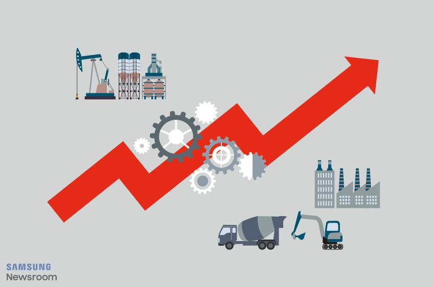 공장의 모습. 제품 생산 과정