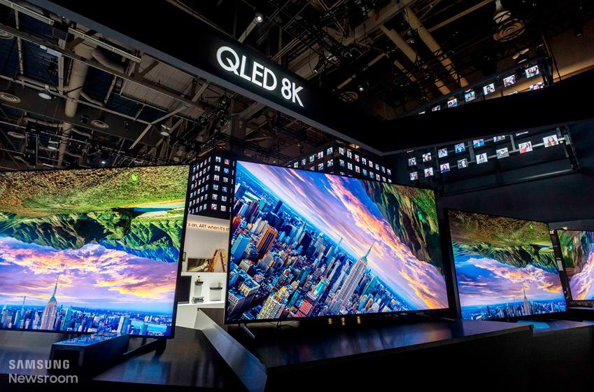 QLED 8K TV 신제품의 모습