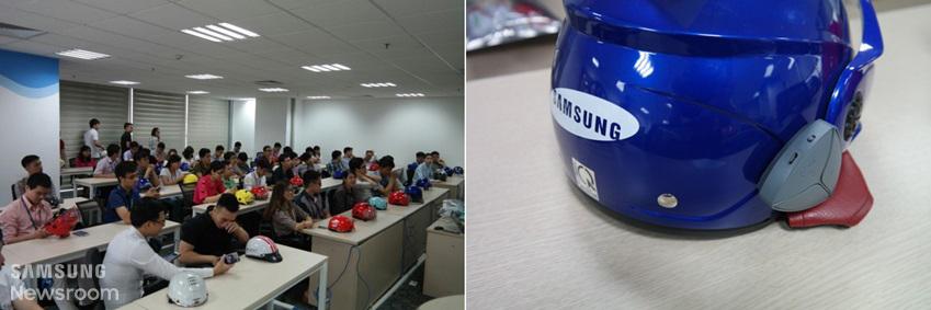 사용자 검증을 위해 자발적으로 참석한 베트남 직원들(사진 왼쪽)과 어헤드 초기 모델