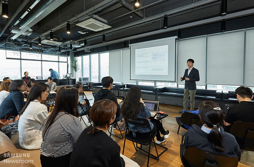 ▲ 소셜벤처를 대상으로 열린 2019 삼성투모로우솔루션 설명회 현장