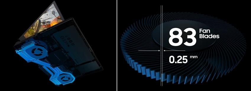듀엌쿨링시스템 83fan blades 0.25mm