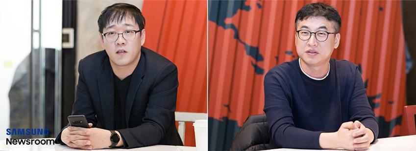 갤럭시 S10 카메라 기능의 기획•개발을 담당한 김순용씨 백수곤씨