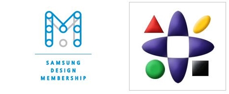 ▲ 삼성디자인멤버십 로고(사진 왼쪽)와 휴먼테크 논문대상 로고(사진 오른쪽)