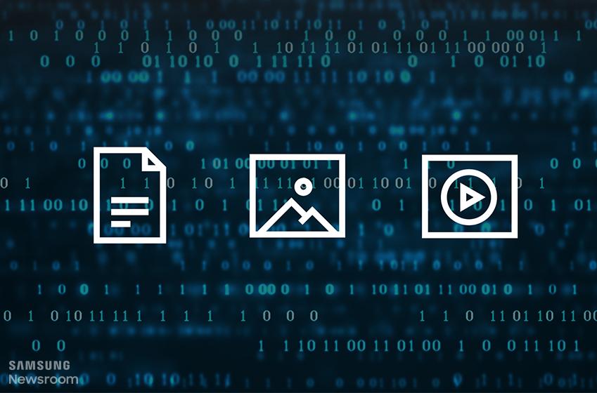 ▲ 문서, 사진, 동영상 등 디지털 정보는 이진법 숫자인 '0'과 '1'로 이뤄져 있다.
