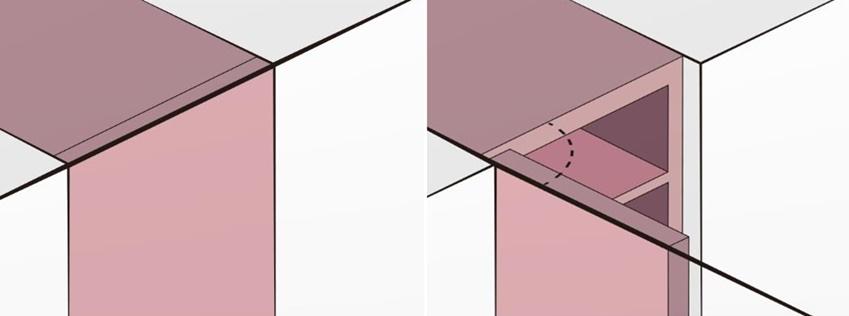 ▲여닫는 각도와 두께를 세심하게 계산해서 설계한 도어