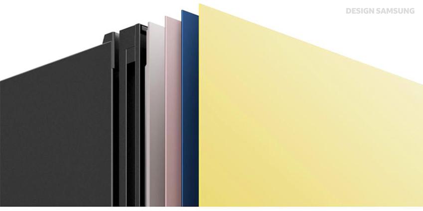 사용자가 원하는 패널을 넣고 뺄 수 있도록 설계된 비스포크 냉장고 전면부 (※ 이해를 돕기 위해 연출된 이미지)