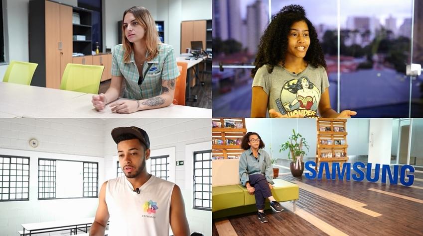▲ 브라질 캄피나스 생산법인 사회공헌 프로그램을 통해 자립하게 된 청소년들. 난생처음 직업을 가지고 일하는 방식을 배운 아이들은 그동안 꿈을 갖고 사회에 진출해 자신이 하고 싶은 일을 하며 살아가고 있다.