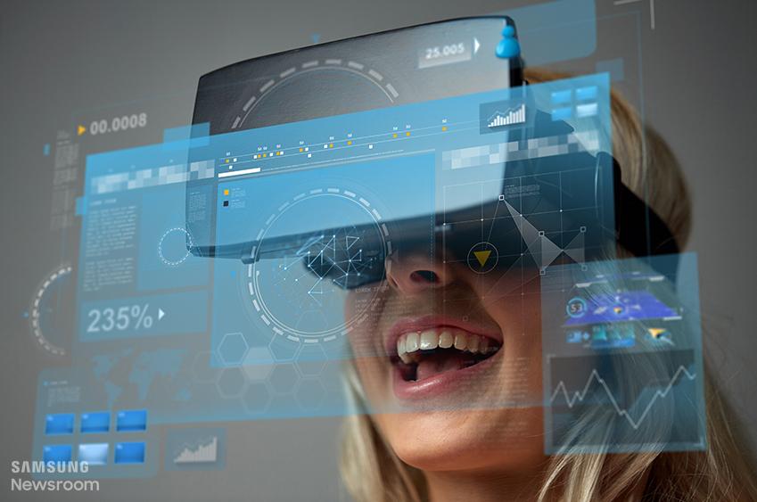 VR 체험중인 모습