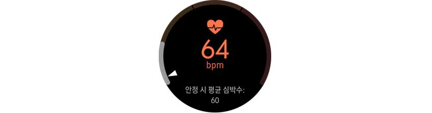 삼성헬스의 심박수 관리 기능