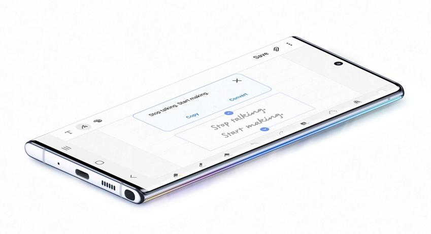 갤럭시 노트10 시리즈의 손글씨 텍스트 변환 기능